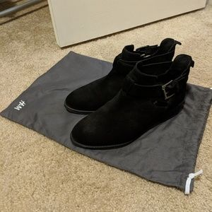 H&M genuine suede ankle boots